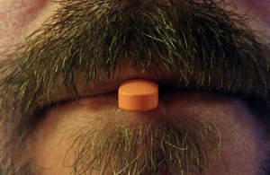 Pill in mouth