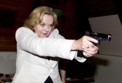 Judith with gun
